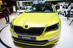 Skoda magnífico, exposição automóvel Geneve 2015 Imagens de Stock