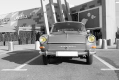 Vintage oldtimer Skoda MB 1000 (1966) - selective color isolation Stock Photography
