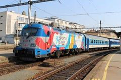 Skoda  Messerschmitt. The locomotive Messerschmitt in station Brno main train station Stock Photos