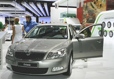 Skoda Octavia. At the Moscow International Automobile Salon (MIAS-2010) August 25 - September 5 Stock Images
