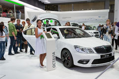 Skoda Octavia at  Moscow International Motor Show 2012 Royalty Free Stock Photo