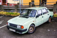 Skoda 120. PRAGUE, CZECH REPUBLIC - JULY 21, 2014: Motor car Skoda 120 at the city street Royalty Free Stock Photography