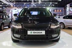 SKODA preto novo na 30a expo internacional do motor de Tailândia o 3 de dezembro de 2013 em Banguecoque, Tailândia Fotografia de Stock