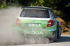 Skoda Rally Car Royalty Free Stock Image