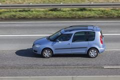 Skoda Roomster on the road Stock Photos