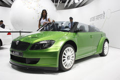 A Skoda RS 2000 on display at Auto Expo 2012 Royalty Free Stock Image