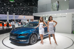 SKODA Superb Combi - world premiere. Stock Photos