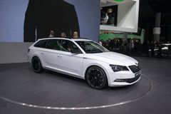 SKODA Superb Combi - world premiere. Stock Image