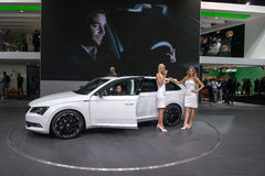 SKODA Superb Combi - world premiere. Stock Photography