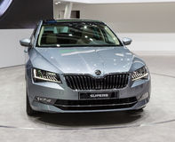 2015 Skoda Superb. Geneva, Switzerland - March 4, 2015: 2015 Skoda Superb presented on the 85th International Geneva Motor Show Stock Image