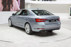 2015 Skoda Superb. Geneva, Switzerland - March 4, 2015: 2015 Skoda Superb presented on the 85th International Geneva Motor Show Stock Photography