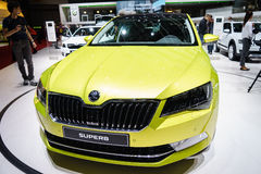 Skoda superbe, Salon de l'Automobile Geneve 2015 Images stock
