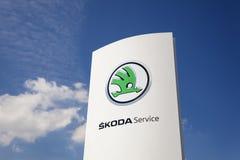 Skoda-Verkaufsstelle in Deutschland Lizenzfreies Stockfoto