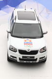 Skoda Yeti. Car presented at olympic village in Prague introducing 22nd Winter Olympic Games in Sochi at 9.2.2014, Czech Republic Royalty Free Stock Images