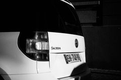 Skoda Yeti car parked on a street in France Royalty Free Stock Images