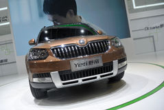 Skoda yeti SUV front Royalty Free Stock Photo