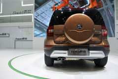 Skoda yeti SUV rear Stock Photo