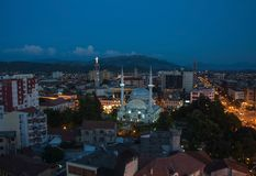 Skoder City skyline aerial view Albania. At sunset royalty free stock photo