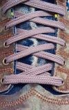 skodon som snör åt sportar Arkivfoto