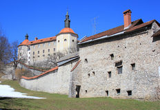 Skofja Loka castle, Slovenia. Medieval Skofja Loka castle, Slovenia, Europe Stock Photo