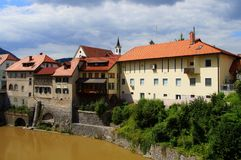 Skofja Loka, Slowenien Stockbild