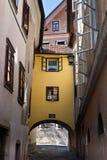 Skofja loka Slowenien-Fensterfarbtöne Lizenzfreie Stockbilder