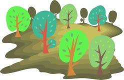 skog stock illustrationer