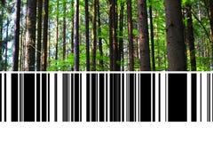 Skog med barcoden royaltyfri fotografi