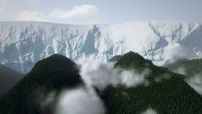 Skog och glaciär arkivfilmer