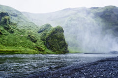 Skoga river near Skogafoss waterfall in Iceland Royalty Free Stock Images