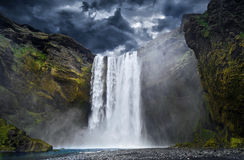 Waterfall, Iceland Stock Image