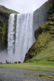 Skogafoss beautiful waterfall green Iceland 2