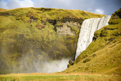 Skogafoss, beautiful waterfall in Iceland Royalty Free Stock Photo