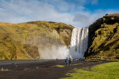 Skogafoss, beautiful waterfall in Iceland Royalty Free Stock Images