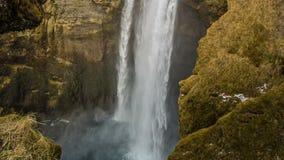 Skogafoss. Beautiful waterfalls Skogafoss on the coast of Iceland stock footage