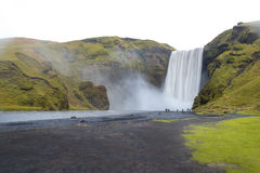 Skogafoss, belle cascade en Islande photographie stock