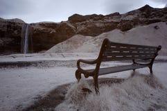 Skogafoss chair Stock Photo