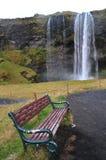 Skogafoss chair Stock Photography