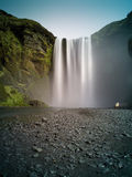 Skogafoss (chute de l'eau), Islande Image stock