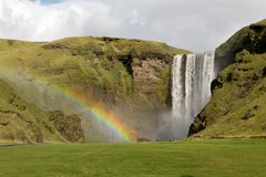 Skogafoss in Iceland Royalty Free Stock Image