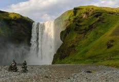 Skogafoss iceland waterfall Stock Image
