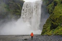 Skogafoss IJsland Stock Afbeelding