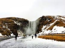 Skogafoss, IJsland stock foto's