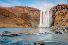 Skogafoss Islândia Fotos de Stock