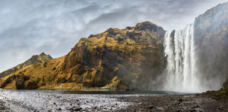 Skogafoss panorama Stock Photo