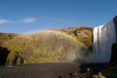 Skogafoss rainbow Stock Photography
