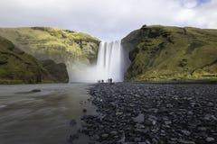 Skogafoss siklawa Iceland Zdjęcie Stock
