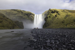 Skogafoss siklawa Iceland Zdjęcie Royalty Free