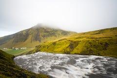 Skogafoss siklawa w ranku, Iceland Fotografia Stock