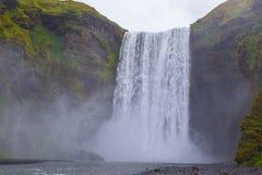 Skogafoss vattenfall Arkivfoto